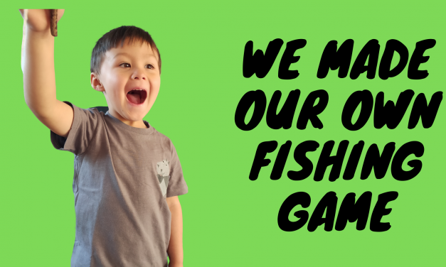 Make your own home made fishing game!