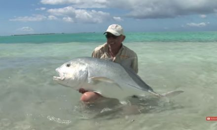 Flyfishing for GT's On Christmas Island