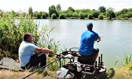 Pellet waggler fishing at Barston with Andy May