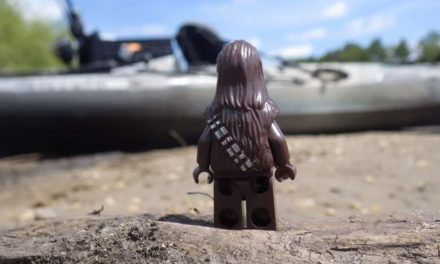 Chewbacca Goes kayak Fishing !