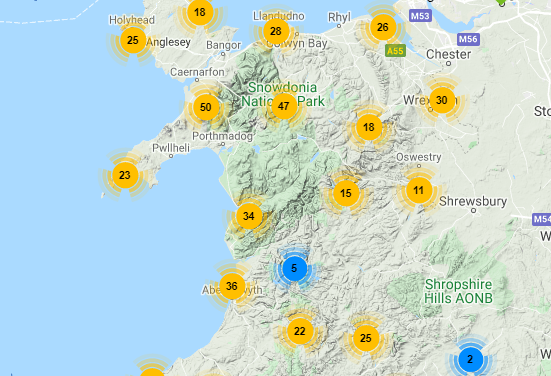 Find Marks with Fishing In Wales