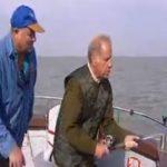 Geoffrey Palmer catching Thornbacks